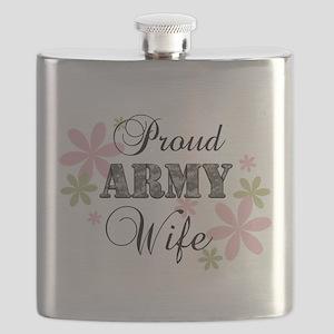 Army Wife [fl camo] Flask